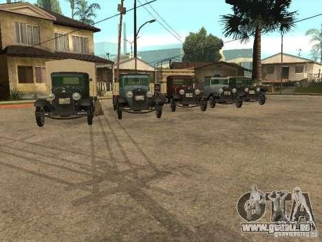 FORD AA pour GTA San Andreas vue arrière