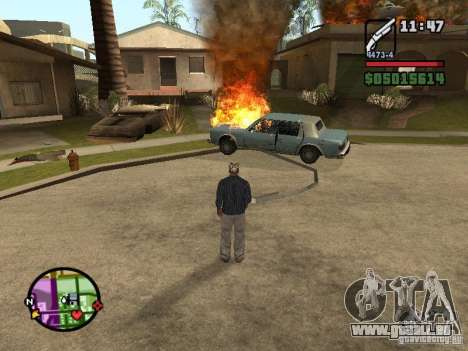 Overdose effects V1.3 pour GTA San Andreas sixième écran