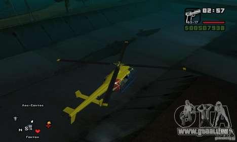 Helitours Maverick von GTA 4 für GTA San Andreas rechten Ansicht
