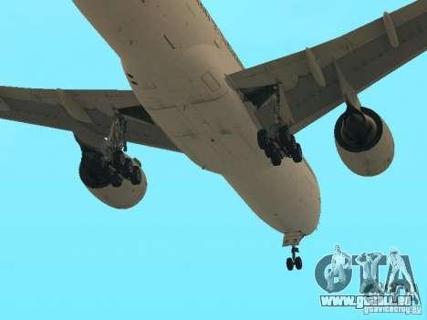Boeing 777-200 Air France für GTA San Andreas obere Ansicht