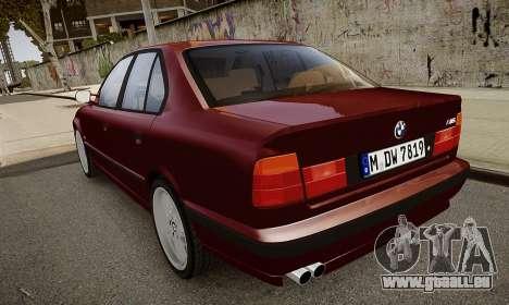 BMW M5 (E34) 1995 v1.0 pour GTA 4 est un côté