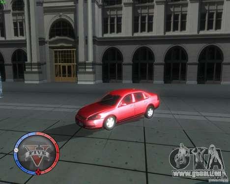 Chevrolet Impala 2008 pour GTA San Andreas vue de droite