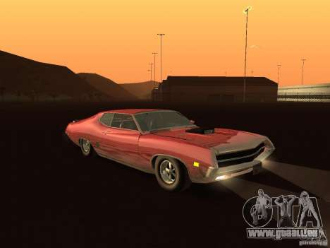 Ford Torino Cobra 1970 Tunable pour GTA San Andreas vue arrière