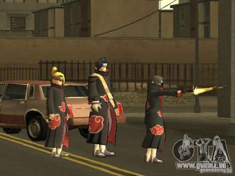 The Akatsuki gang für GTA San Andreas her Screenshot