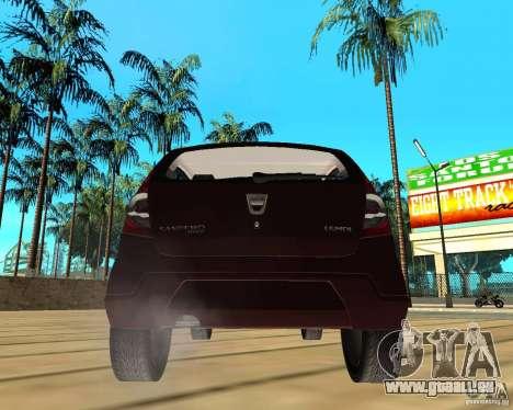 Dacia Sandero 1.6 MPI für GTA San Andreas zurück linke Ansicht