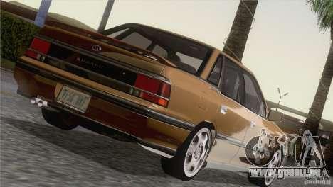 Subaru Legacy RS für GTA San Andreas Rückansicht