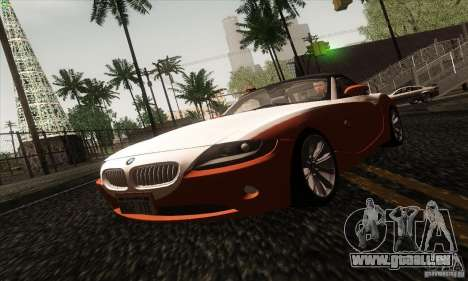BMW Z4 pour GTA San Andreas vue de dessus