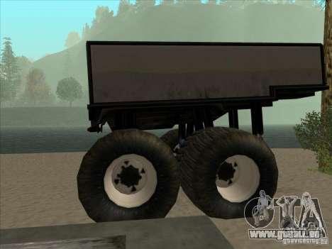 Trailer für monströser LKW für GTA San Andreas linke Ansicht