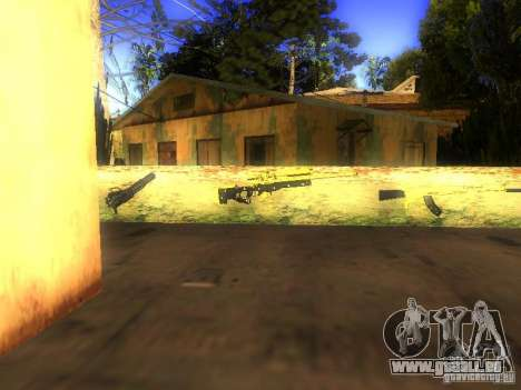 Waffen in der Grove Street für GTA San Andreas her Screenshot
