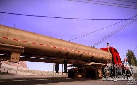 Remorque Kenworth T600 pour GTA San Andreas laissé vue