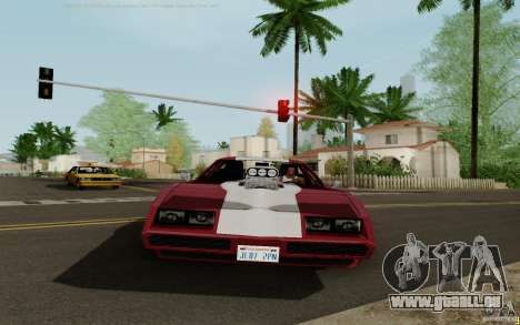Phoenix HD pour GTA San Andreas sur la vue arrière gauche