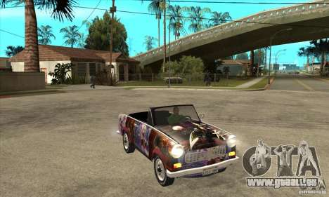 Trabant 601 Custom für GTA San Andreas Innenansicht