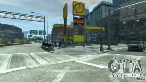 Shell Petrol Station V2 Updated pour GTA 4