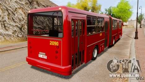 Ikarus 280 für GTA 4 hinten links Ansicht