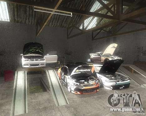 BMW 135i Hella Drift für GTA San Andreas Innenansicht