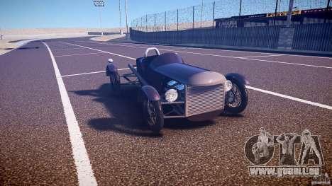 Vintage race car für GTA 4 Rückansicht