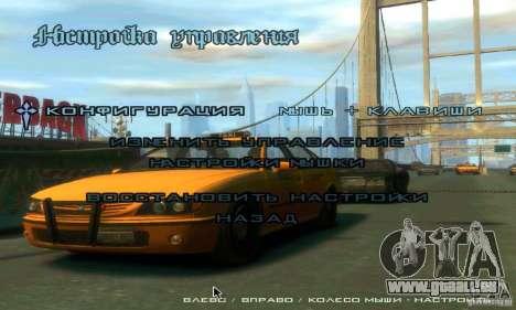Menu dans le style de GTA 4 pour GTA San Andreas quatrième écran