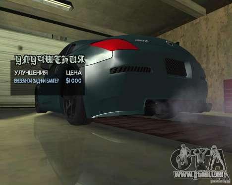 Nissan 350Z Tunable pour GTA San Andreas vue de côté