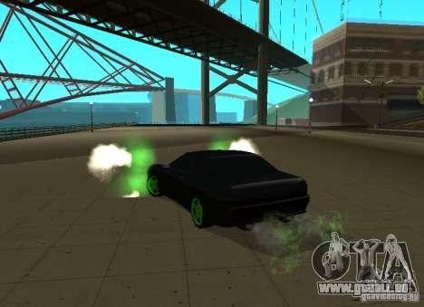 Elegy Green Drift für GTA San Andreas zurück linke Ansicht