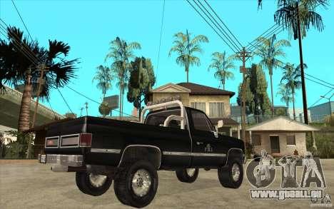 GMC Sierra 1986 FBI pour GTA San Andreas vue de droite