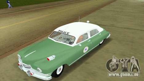 Packard Standard Eight Touring Sedan Police 1948 pour une vue GTA Vice City de la gauche
