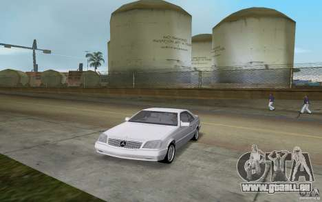 Mercedes-Benz 600SEC (C140) 1992 für GTA Vice City zurück linke Ansicht