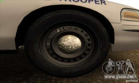 Ford Crown Victoria Arkansas Police für GTA San Andreas Innenansicht