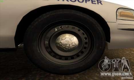 Ford Crown Victoria Arkansas Police pour GTA San Andreas vue intérieure