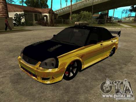 Lada 2170 Priora GOLD pour GTA San Andreas vue de côté