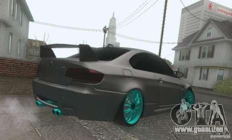 BMW M3 E92 Hellaflush v1.0 pour GTA San Andreas vue intérieure
