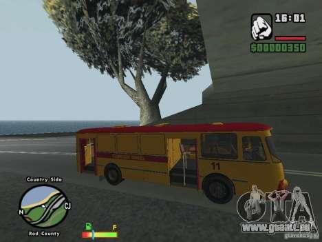 Assistance technique LIAZ 677 HBI pour GTA San Andreas sur la vue arrière gauche