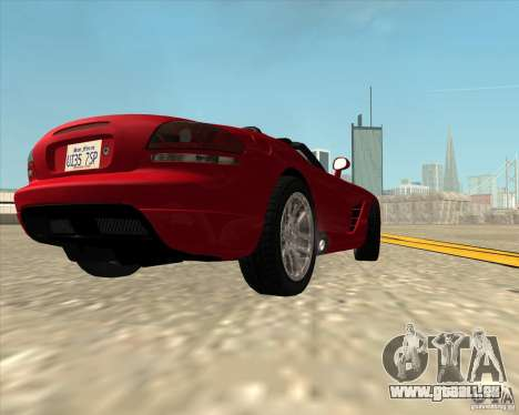 Dodge Viper SRT-10 Roadster für GTA San Andreas Rückansicht