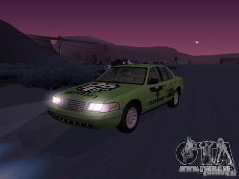 Ford Crown Victoria für GTA San Andreas obere Ansicht