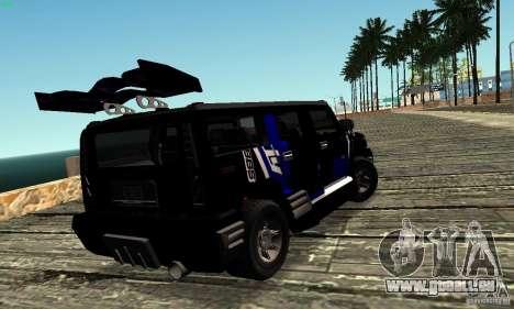 Hummer H2 Tunable für GTA San Andreas Innenansicht