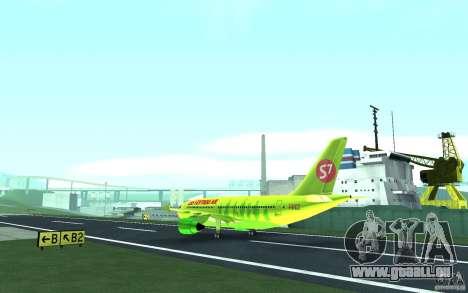 Airbus A310 S7 Airlines für GTA San Andreas Rückansicht