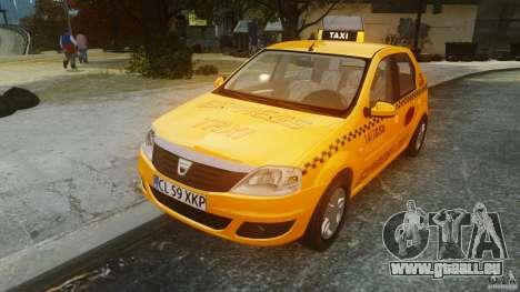 Dacia Logan Facelift Taxi pour GTA 4