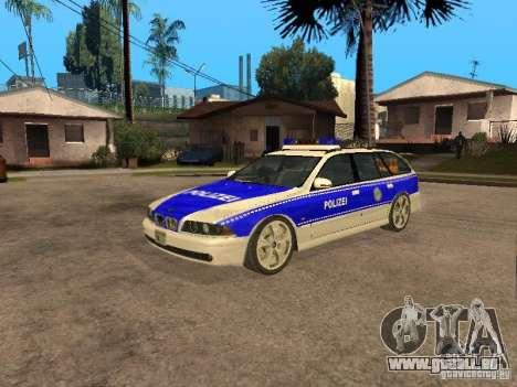 BMW 525i Touring Police für GTA San Andreas