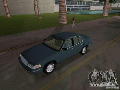 Ford Crown Victoria pour une vue GTA Vice City de l'intérieur