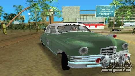 Packard Standard Eight Touring Sedan Police 1948 pour GTA Vice City sur la vue arrière gauche