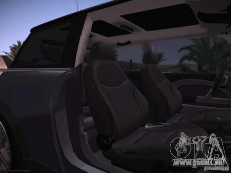 Mini Cooper S pour GTA San Andreas vue intérieure