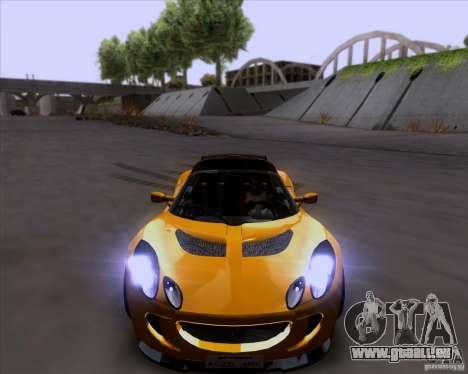 Lotus Exige für GTA San Andreas obere Ansicht