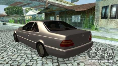 Mercedes Benz 600 Sec pour GTA San Andreas sur la vue arrière gauche
