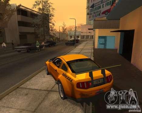 Ford Mustang GT-R 2010 pour GTA San Andreas sur la vue arrière gauche