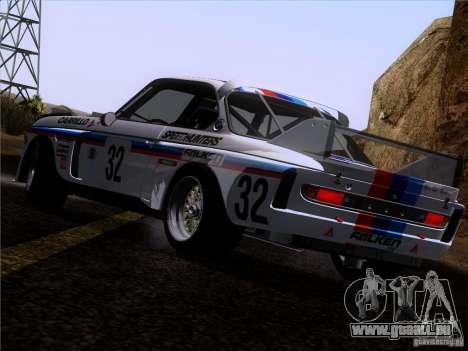 BMW CSL GR4 pour GTA San Andreas vue de dessous