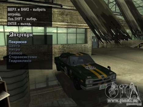 Nissan Skyline 2000 GT-R pour GTA San Andreas vue arrière