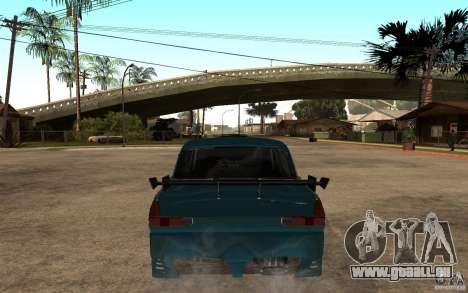 AZLK 412 Tuning pour GTA San Andreas sur la vue arrière gauche