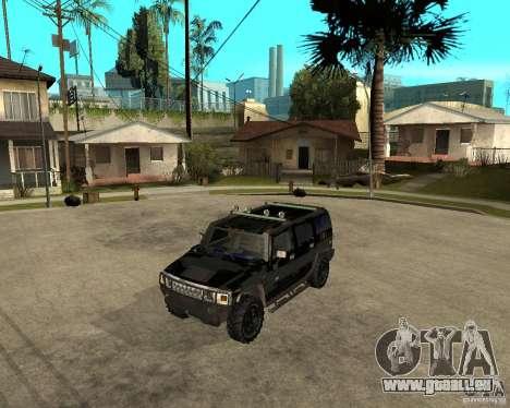 FBI Hummer H2 für GTA San Andreas zurück linke Ansicht