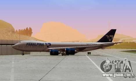 Boeing 747-8F pour GTA San Andreas vue intérieure