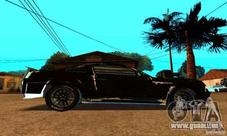 Ford Mustang Shelby GT500 From Death Race Script pour GTA San Andreas vue arrière