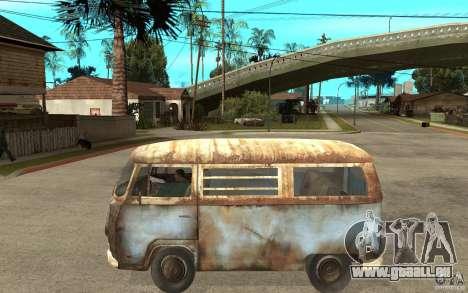 Dharma-Van (VW Typ 2 T2a) pour GTA San Andreas laissé vue
